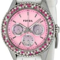 Fossil Women`s ES2895 Stella Pink Dial Watch: Watches: Amazon.com