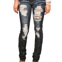 Ripped Revenge Skinny Denim