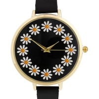 ASOS Daisy Chain Watch - Black