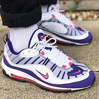 Nike Air Max 98 Fashionable Women Casual Air Cushioned Running Sport Shoes Sneaker