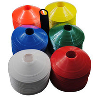 10x Football Rugby Sport Cross Training Space Marker Soccer Cone Saucer  HU