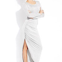 Simply Stated Ruched Maxi Dress