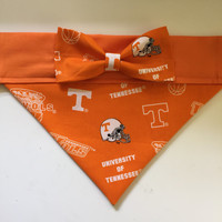 Dog Bandana made from University of Tennessee Fabric