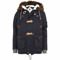 NAVY BELLFIELD QUILTED PARKA JACKET