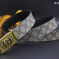 Gucci Belt Men Women Fashion Belts 537496