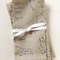 Sky Map Napkins by Anthropologie Neutral One Size Kitchen
