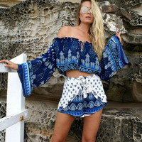 Boho Print Beach Two Piece Set 11737