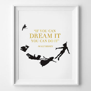 Walt Disney Wall Art, Printable Motivational Quote, Inspirational, INSTANT DOWNLOADWalt Disney Quote, Walt Disney Print, Walt Disney Decor