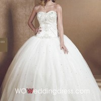 Wholesale Strapless A-line Beaded Wedding Dress - Shop Online for Wedding Dresses at Low Prices