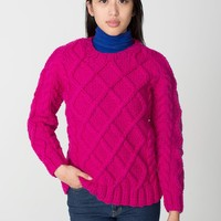 caswtr8040w - Unisex Cable Knit Canadian Sweater