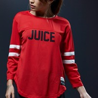 Sweat Crew Football Graphic T-Shirt - Womens Tee - Red