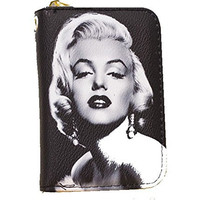 Marilyn Monroe Women , Mini-Wallet with Zipper Closure
