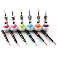 Italia Deluxe Eyeliner and Eye Pencil Waterproof Lovely Neon Eyes set of 6 colors - green - blue - orange - red - purple and more #2314