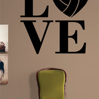 Volleyball Love Quote Design Sports Decal Sticker Wall Vinyl