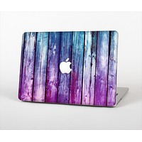 The Pink & Blue Dyed Wood Skin Set for the Apple MacBook Air 13""
