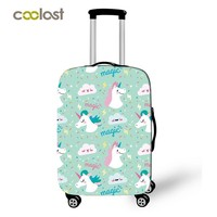 Cartoon Unicorn Luggage Cover for Girls Pink Suitcase Protective Covers Elastic Travel Case Cover valise 50cm Travel Accessories