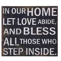 Our Home Blessed Wall Decor Sign