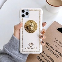 Versace XS Apple X mobile phone case iPhone net red max protective sleeve 11 anti-fall 7p couple xr leather 6s
