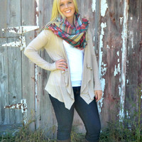 Tan Oversized Blanket Scarf