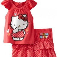 Hello Kitty Baby Girls' On Skirt Set, Paradise Pink, 24 Months