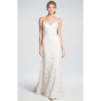'Lanai' Convertible Cap Sleeve Lace Low Back Gown
