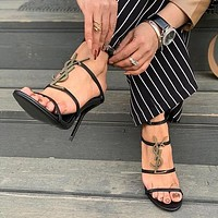 Laurent Ysl Cassandra Sandals