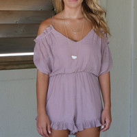 Carrington Point Mauve Cold Shoulder Romper