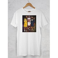 Kobe Bryant Lebron James Jordan Legends Goats Basketball T Shirt