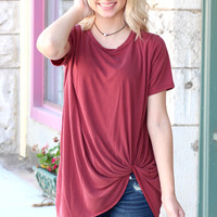 Get Twisted Comfy Short Sleeve Basic {Brick}