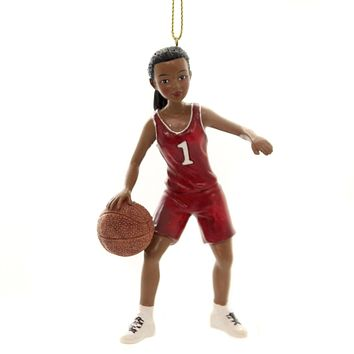 Holiday Ornaments GIRL SPORT ORNAMENT Polyresin Athlete Ball 164702 Basketball