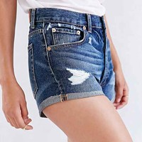 BDG 5-Pocket Roll-Cuff Cutoff Short- Vintage Denim Dark