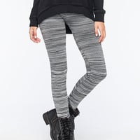 Just One Space Dye Womens Leggings Gray  In Sizes