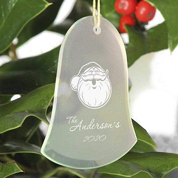 Personalized Beveled Glass Ornament - Bell Shape