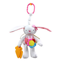 2016 New Plush Pink Rabbit Hanger Rattles Toys With Teether Stuffed Kawaii Soft Toys For Baby Kid Best Gifts