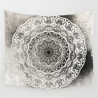 DESERT FLOWER MANDALA Wall Tapestry by Nika