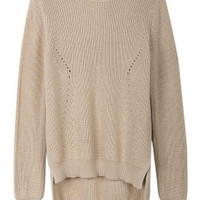 Neutral Hem Knit Sweater