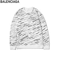 Balenciaga 2019 new full-print alphabet sports and leisure knitted sweater white