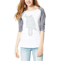 Don't You Forget About Me Raglan - White