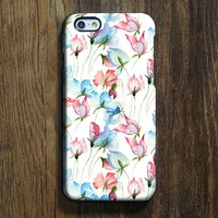 Watercolor Pink Blue Floral iPhone XR Case Galaxy S8 Case iPhone XS Max Cover iPhone 8 SE  Galaxy S8 Galaxy S7 Galaxy Note 5 Phone Case 159