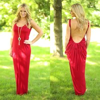 Lady In Red Maxi Dress
