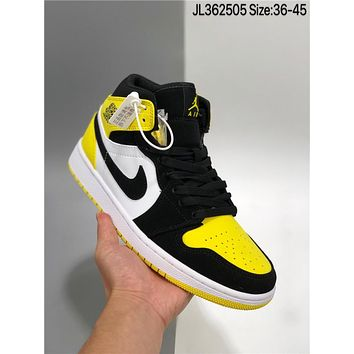 Air Jordan 1 Mid AJ1 cheap fashion Mens and womens sports shoes