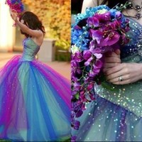 2015 New Multi Color Quinceanera Dresses Bridal Gown Pageant Formal Prom dresses