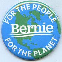 Bernie Sanders For the People For the Planet button