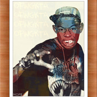 GOLF WANG (Tyler, The Creator) 8x10 Digital Illustration High Gloss Print by MOPS BuY 1 GeT OnE FrEE