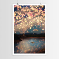 Paula Belle Flores's Flying Wish Lanterns POSTER