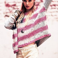 Free People Flag Pullover