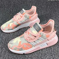 Adidas Clover EQT Cushion ADV winter performance sports shoes F-CSXY Camouflage pink