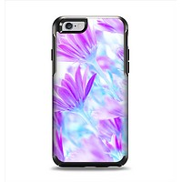 The Vibrant Blue & Purple Flower Field Apple iPhone 6 Otterbox Symmetry Case Skin Set