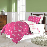 3 Piece printed reversible Comforter Set - Love Full/Queen