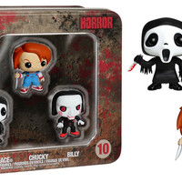 Pocket POP! Horror 3-Pack: Ghost Face, Chucky, and Billy